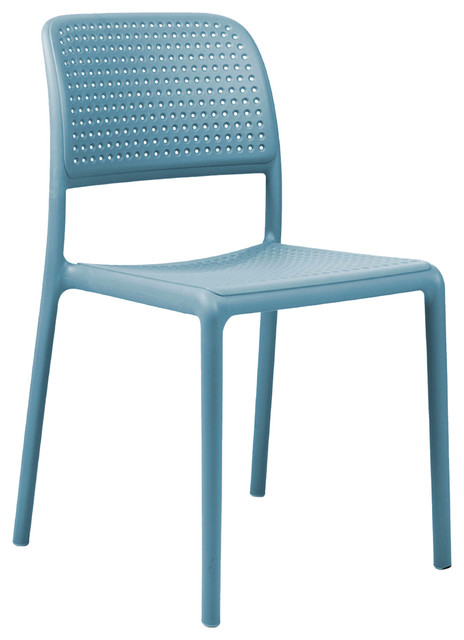 Bistrot Outdoor Dining Chairs, Sky Blue, Set of 2