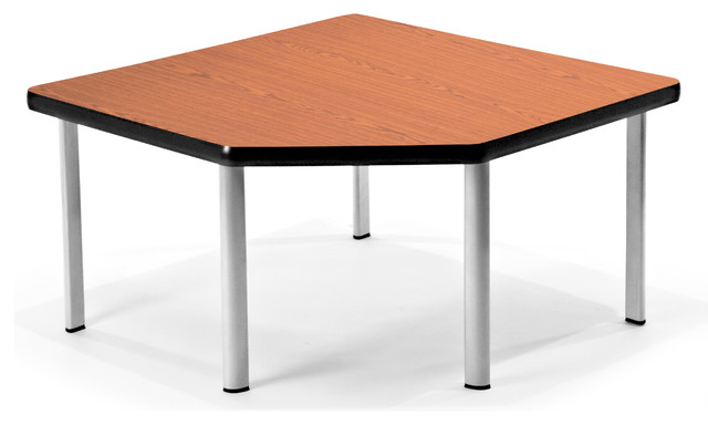Ofm corner table with 5 legs cherry contemporary living room ofm corner table with 5 legs cherry watchthetrailerfo