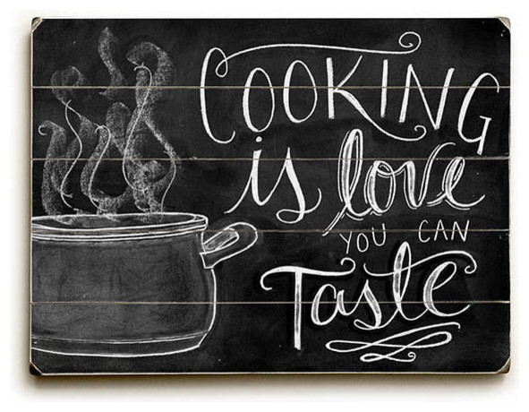 Artehouse Cooking Is Love You Can Taste Wood Sign