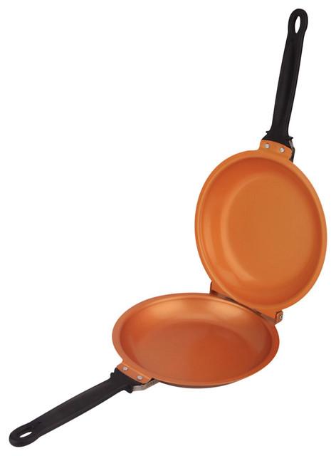 Pancake Flip Pan, Double Sided Non-Stick Cerami-Tech Copper Pan.