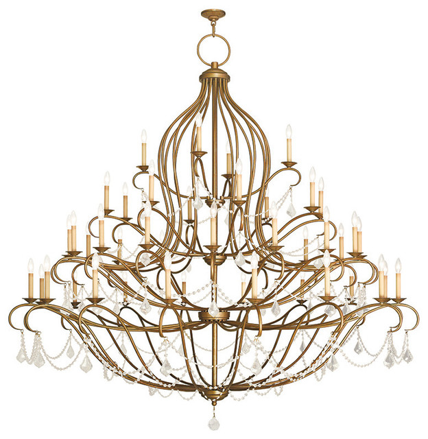 Livex lighting chesterfield 161684 light grand foyer chandelier chesterfield grand foyer chandelier hand painted antique gold leaf aloadofball Images