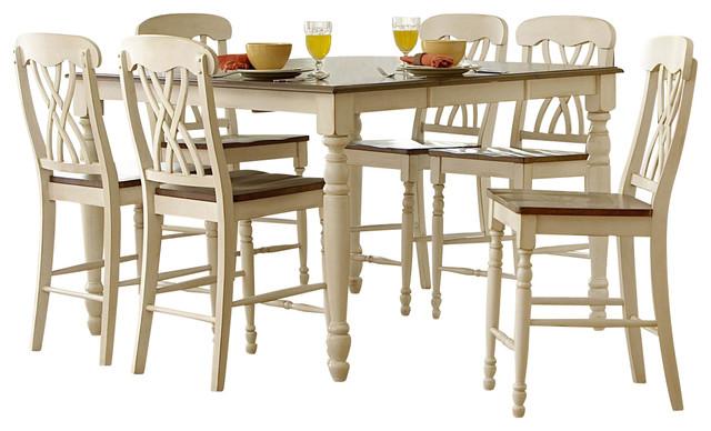 Homelegance Ohana Square Counter Height Table in White