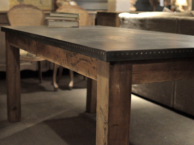 Zinc Dining Table Cornerstone Home Interiors  : industrial dining room from www.houzz.com size 640 x 478 jpeg 55kB