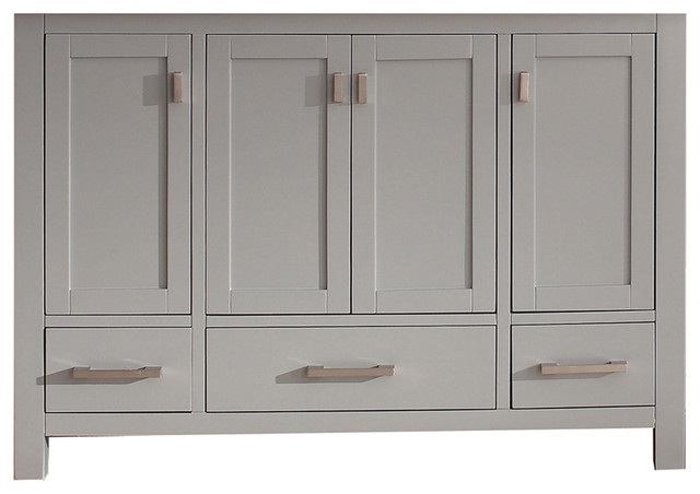 "Avanity Modero 48"" Vanity Only, Chilled Gray Finish."