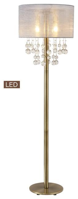 Dark Bronze Abstract Circles Rings Floor Lamp, Column Open Modern Metal