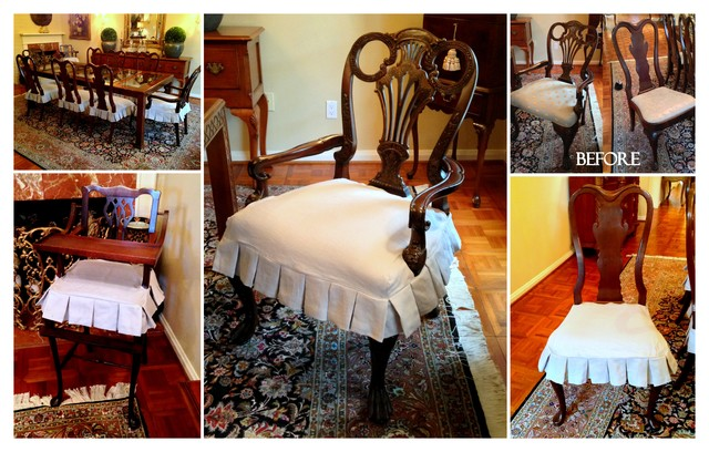 Wonderful Dining Chair Slipcovers Traditional