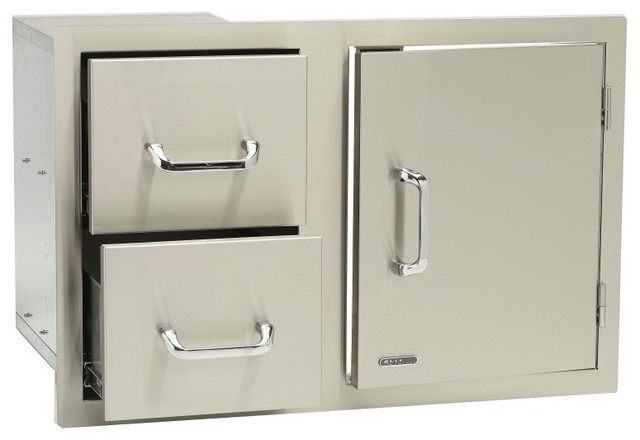 Bull Grill Cabinet Door Drawer Combo, Stainless Steel.