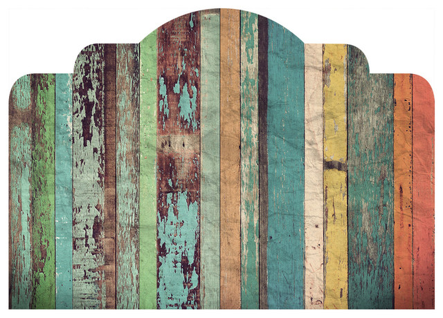 """Distressed Panels Adhesive Headboard, Full/queen, 56""""x38""""."""