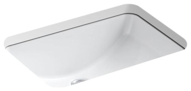 """Kohler Ladena 20-7/8""""x14-3/8""""x8-1/8"""" Under-Mount Bathroom Sink, White."""