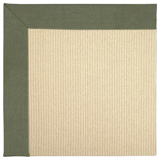 Zoe-Beach Sisal Machine Tufted Rectangle Rug, Plant Green, 10'x10'