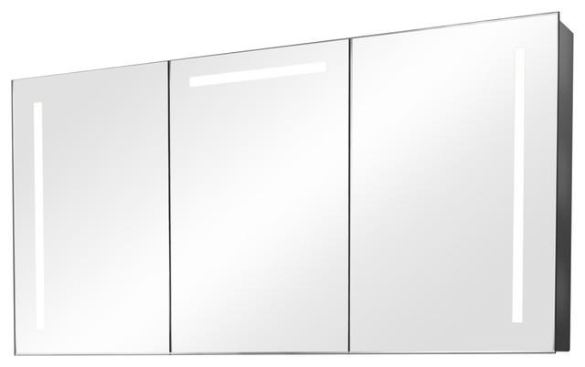 Cali Ambient Light Demisting Bathroom Cabinet, With Under-Cabinet Lighting