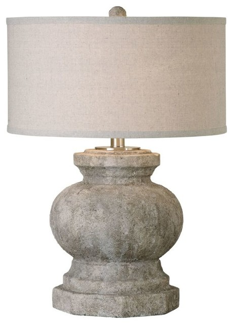 Uttermost Verdello Antiqued Stone Table Lamp Farmhouse Table Lamps