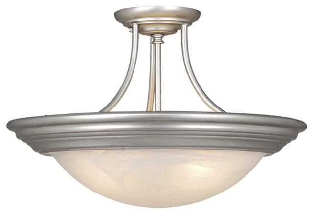 Satin Nickel Ceiling Light Fixtures: Vaxcel CC32714BN Tertial 14