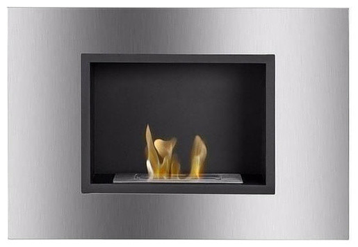 Ignis Quadra, Built-In/wall Mounted Fireplace, Without Glass Barrier.