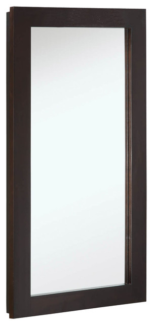 "Ventura 16""x30"" Medicine Cabinet Single Door Espresso Finish."