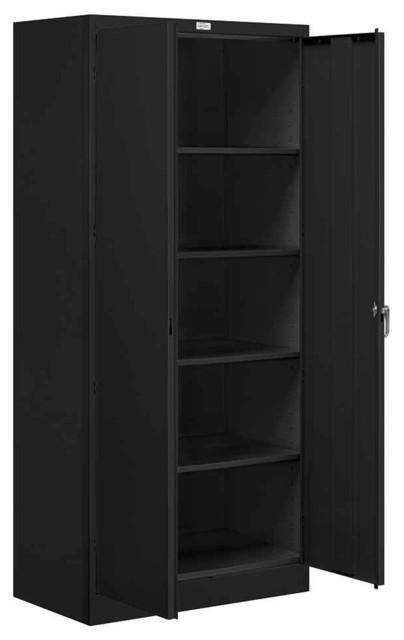 36 In. Standard Storage Cabinet In Black Finish.