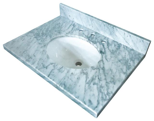 "Fauceture  Carrara Marble Vanity w/ Tops w/ 17""x 14"" Undermount Sink"