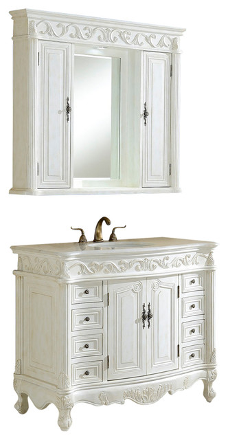 villa 42 vanity with medicine cabinet victorian bathroom vanities and