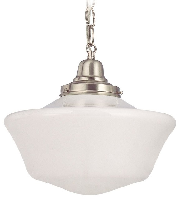 12-Inch Schoolhouse Pendant Light with Chain