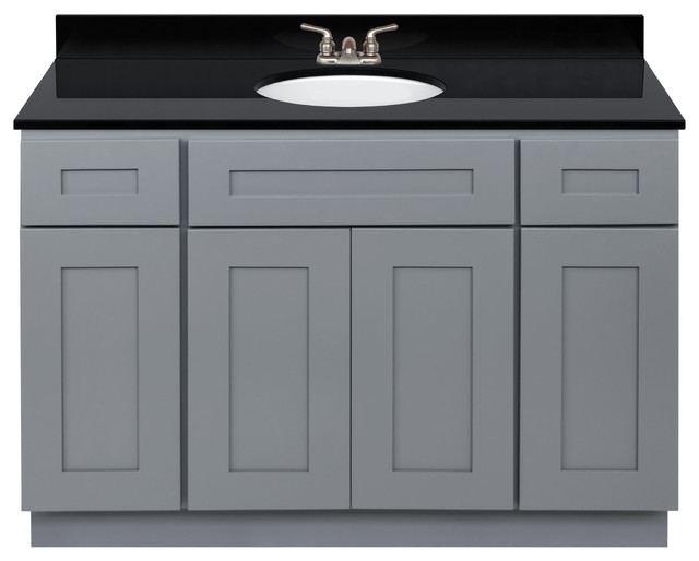 Bathroom Vanity 48 Absolute Black Granite Top Faucet Lb3b Transitional Bathroom Vanities And Sink Consoles By Aaa Distributor Llc Houzz