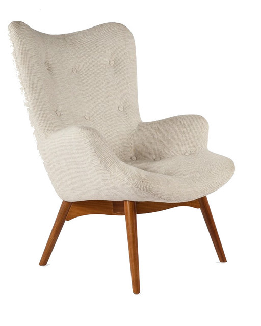 The Teddy Bear Chair, Beige Midcentury Armchairs And Accent Chairs