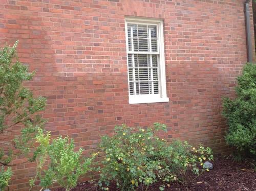 Moisture: Exterior Of Brick Home