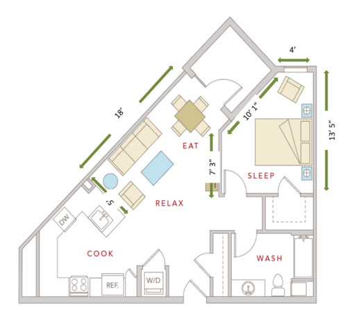 Triangle Shaped Floor Plans Thefloors Co