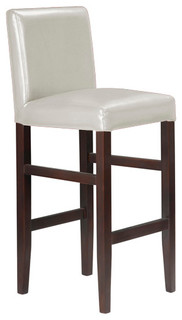 Kendall Contemporary Wood Faux Leather Bar Stools, Cream Soda, Set of 4