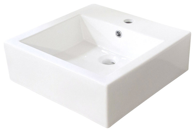 Eve Premium Ceramic Rectangular Vessel Bathroom Sink.