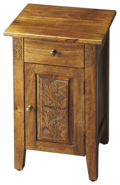 Butler Home Livingroom Furniture Chairside Chest Finish Type, Moderate  Artifacts Rustic Nightstands And