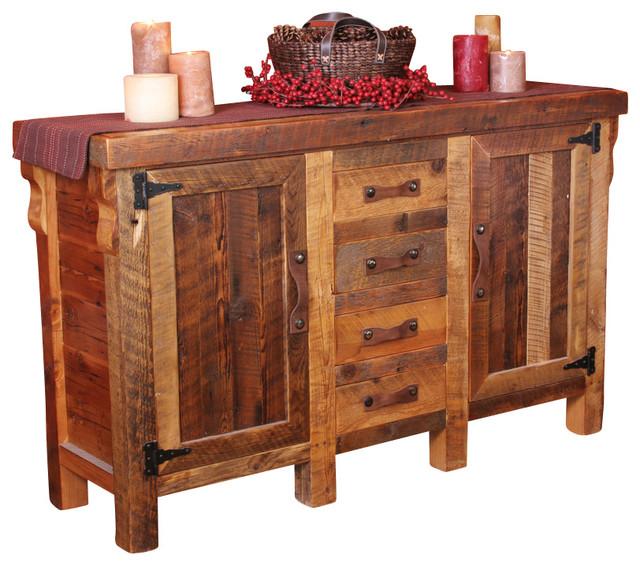 Black Mountain Reclaimed Wood Sideboard - Traditional - Buffets And Sideboards - by Uintah Log ...