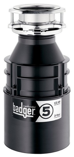Insinkerator Badger 5 Continuous Feed Food Waste Garbage Disposal 1 2 Hp