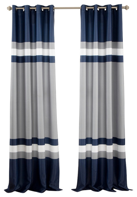 Alexander Window Panel Set, Navy.