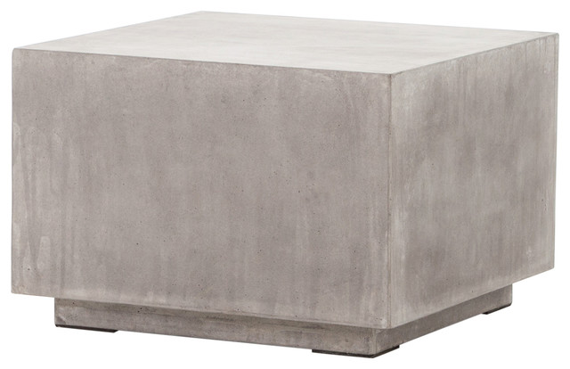Hanz Industrial Loft Gray Block Concrete Cube Coffee Table   Coffee Tables. Wood Block Coffee Tables   Houzz