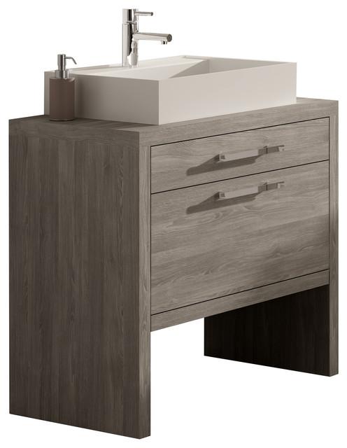 Montreal Oak Bathroom Vanity Set 24 Transitional Bathroom Vanities And
