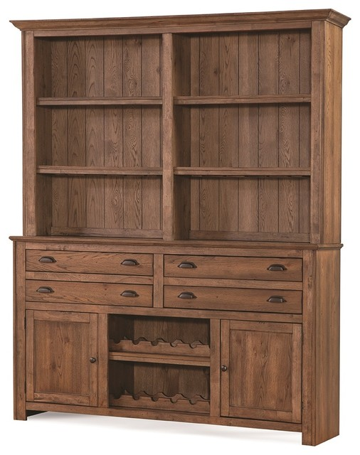 South Mountain Farmhouse Buffet And Hutch Acorn Brown Buffets Sideboards