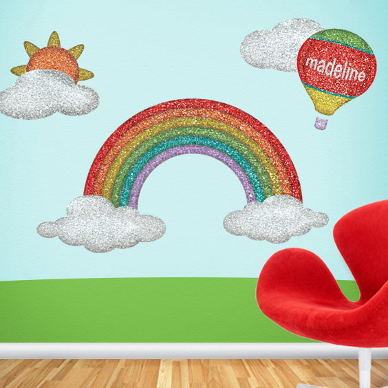 Disco Rainbow Wall Stickers Contemporary Wall Decals by My