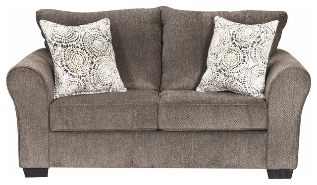 Simmons Upholstery Harlow Ash Loveseat Transitional
