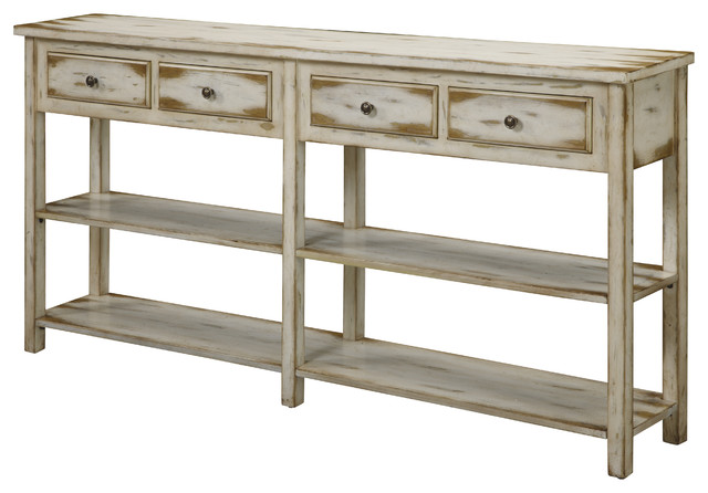 Nice Antique Style Console Table, White Beach Style Console Tables