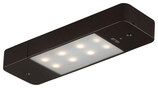 Instalux 8-in Linkable LED Bronze Motion Under Cabinet Strip Light