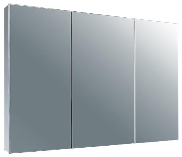 Tri View Medicine Cabinet Satin 37 W X 22 H Modern Cabinets By Clickhere2