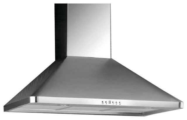 Cyclone High-Powered Stainless Steel Wall-Mount Range Hood Pro Collection, Stain.