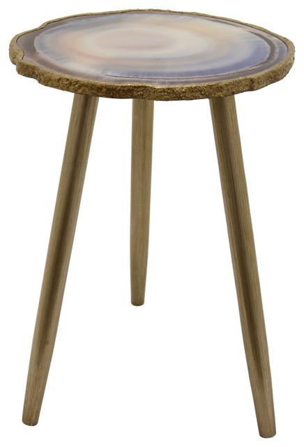 Three Hands Wood Gl Table