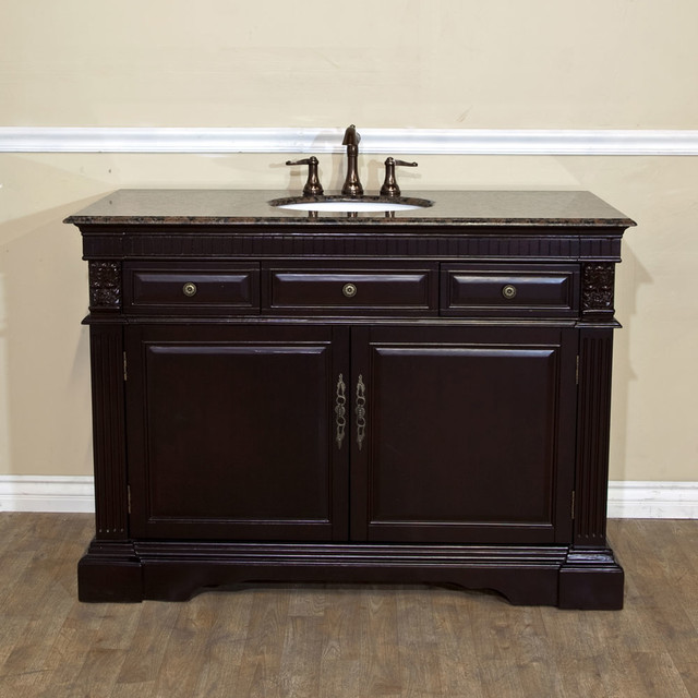 Bellaterra 602208 50 In Single Sink Vanity Wood Dark