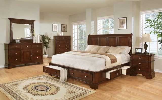 Lifestyle B3185 King Storage Bedroom Set transitional bedroom furniture sets. Lifestyle B3185 King Storage Bedroom Set