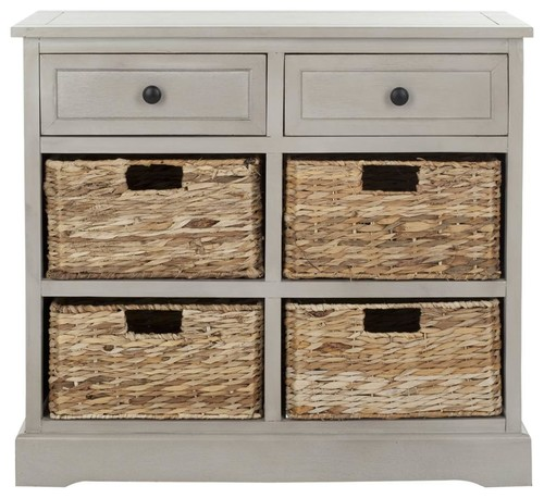 Safavieh Herman Storage Unit With Wicker Baskets