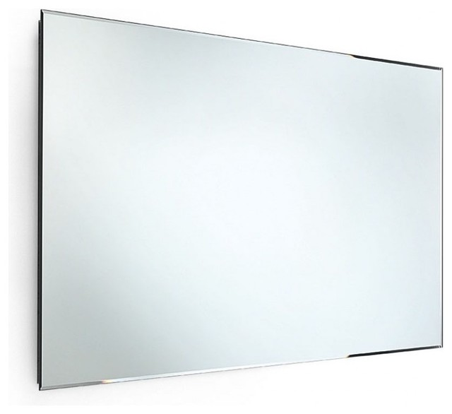bevelled edge bathroom mirror speci 5662 beveled mirror 39 4 quot x 23 6 quot contemporary 17358