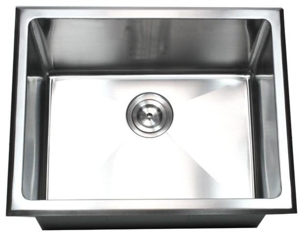 Undermount/Drop-In Single Bowl Kitchen/Utility/Laundry Sink 20mm ...
