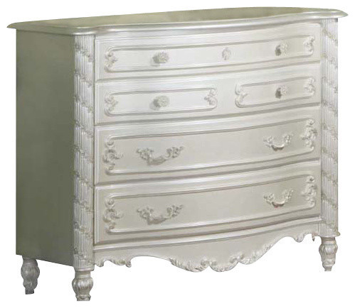 Pearl Dresser Pearl White With Gold Accent.