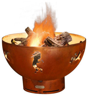 Kokopelli Wood Fire Pit Southwestern Fire Pits By Fire Pits Direct